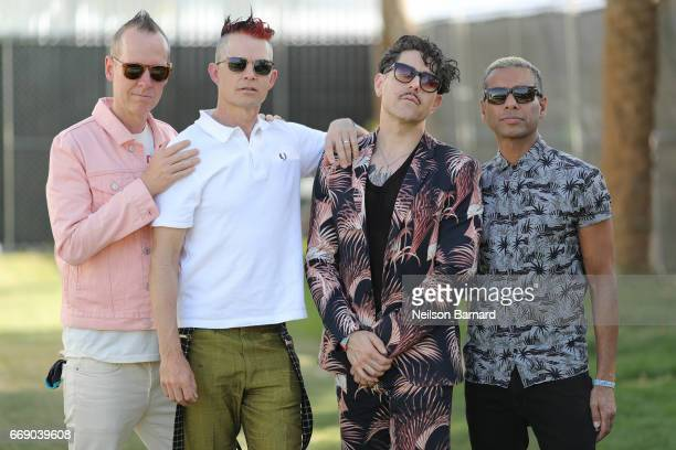 Adrian Young Davey Havok Tom Dumont and Tony Kanal of DREAMCAR during the 2017 Coachella Valley Music And Arts Festival on April 15 2017 in Indio...