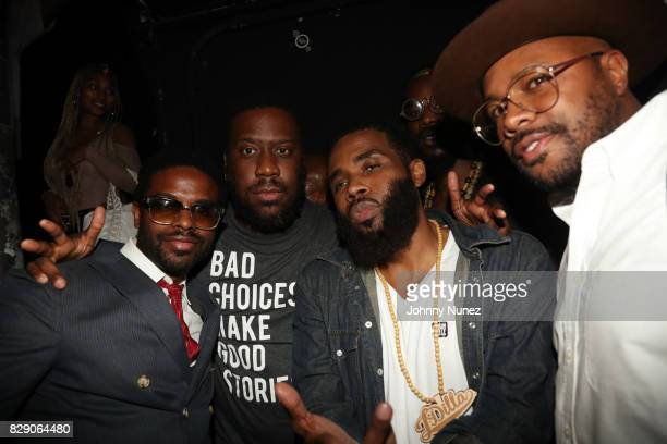Adrian Younge Robert Glasper Pharoahe Monch and DNice attend Soul In The Horn 3rd Anniversary With Erykah Badu at Highline Ballroom on August 9 2017...