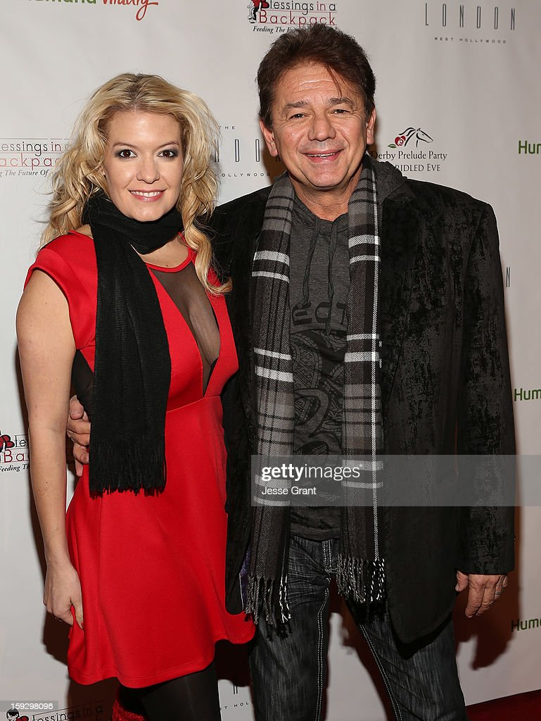 Adrian Zmed (R) attends The 4th Annual Unbridled Eve Derby Prelude Party at The London West Hollywood on January 10, 2013 in West Hollywood, California.