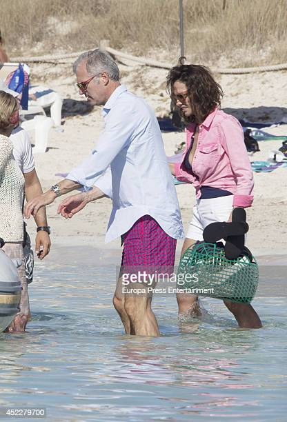 Adriana Abascal and Emmanuel Schreder are seen on July 11 2014 in Ibiza Spain