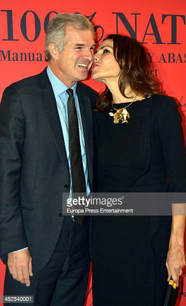 Adriana Abascal and Emmanuel Schreder attend the presentation of the style book '100% Naty' at Villamagna Hotel on November 26 2013 in Madrid Spain