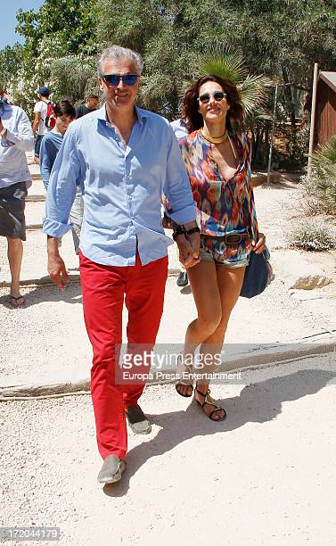 Adriana Abascal and Emmanuel Schreder attend their wedding on June 28 2013 in Ibiza Spain
