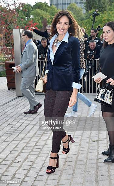 Adriana Abascal arrives at the Louis Vuitton Fashion Show during the Paris Fashion Week S/S 2016 Day Nine on October 7 2015 in Paris France