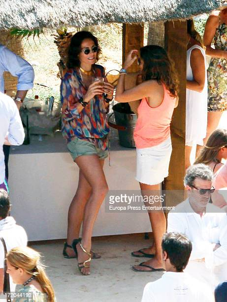 Adriana Abascal attends her wedding with Emmanuel Schreder on June 28 2013 in Ibiza Spain