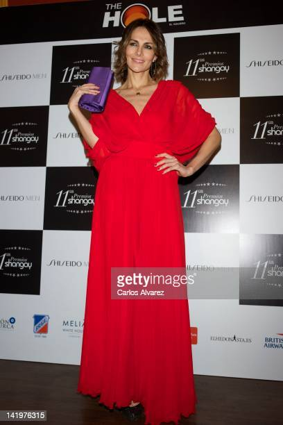 Adriana Abascal attends 'Shangay' awards 2012 at Calderon Theater on March 27 2012 in Madrid Spain