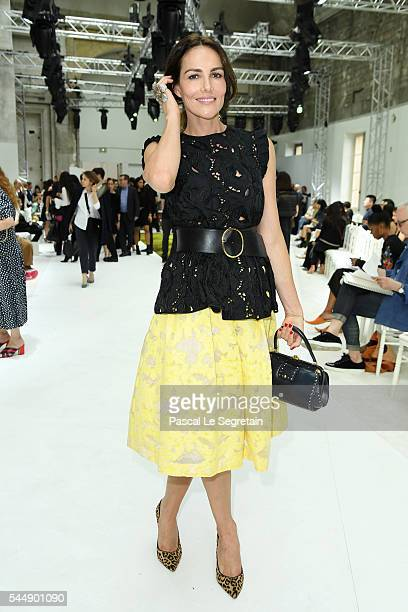 Adriana Abascal attends the Giambattista Valli Haute Couture Fall/Winter 20162017 show as part of Paris Fashion Week on July 4 2016 in Paris France