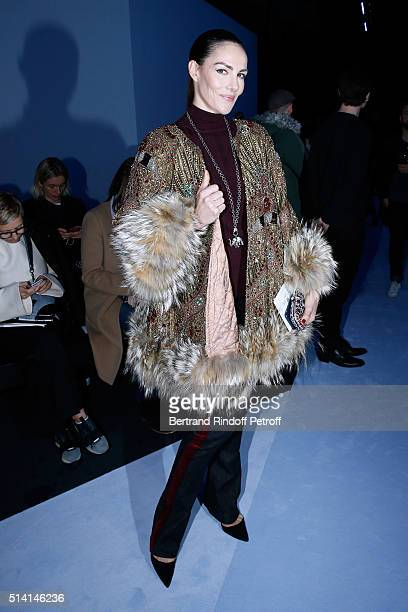 Adriana Abascal attends the Giambattista Valli show as part of the Paris Fashion Week Womenswear Fall/Winter 2016/2017 on March 7 2016 in Paris France