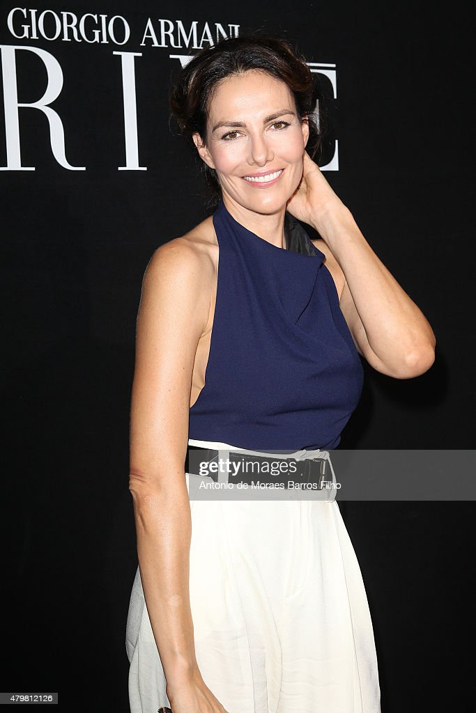Adriana Abascal attends the Giorgio Armani Prive show as part of Paris Fashion Week Haute Couture Fall/Winter 2015/2016 on July 7, 2015 in Paris, France.