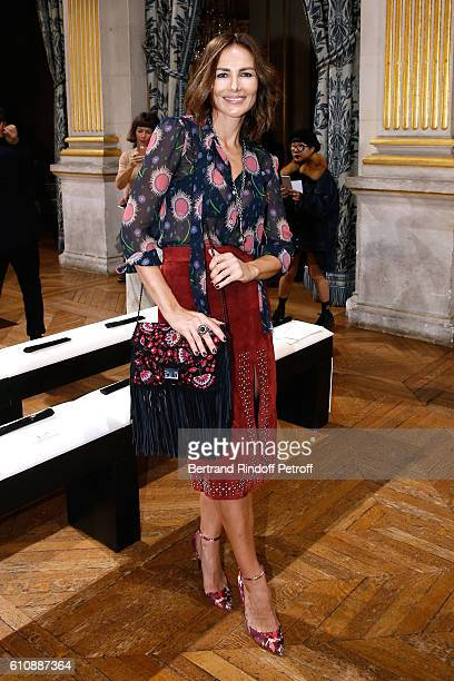 Adriana Abascal attends the Lanvin show as part of the Paris Fashion Week Womenswear Spring/Summer 2017 Held at Paris City Hall on September 28 2016...