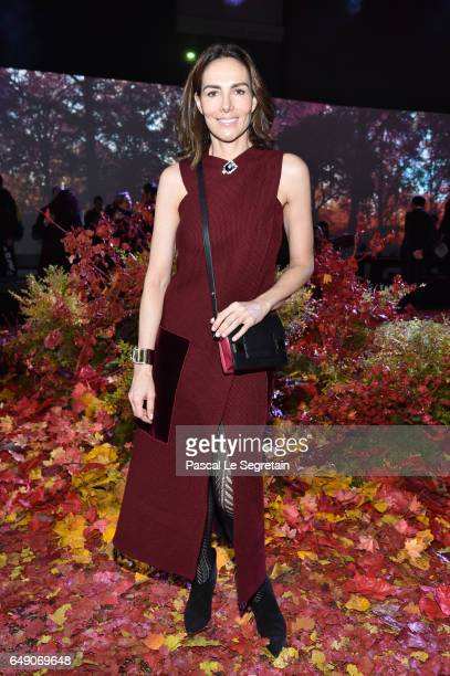 Adriana Abascal attends the Moncler Gamme Rouge show as part of the Paris Fashion Week Womenswear Fall/Winter 2017/2018 on March 7 2017 in Paris...