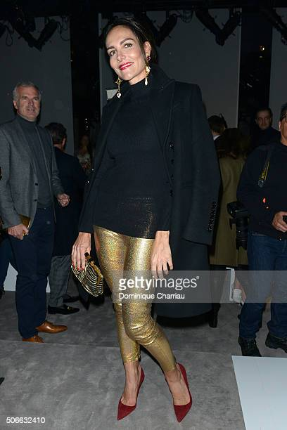 Adriana Abascal attends the Versace Haute Couture Spring Summer 2016 show as part of Paris Fashion Week on January 24 2016 in Paris France