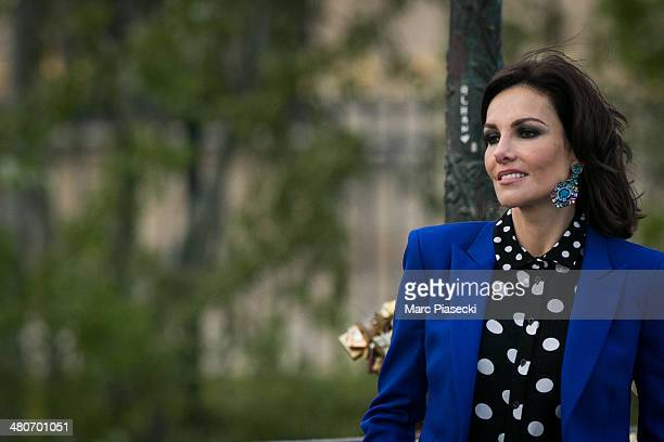 COVERAGE** Adriana Abascal is seen during a video shooting on March 26 2014 in Paris France