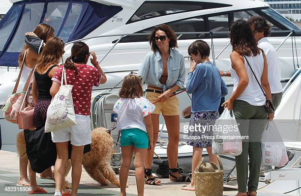 Adriana Abascal is seen on July 10 2014 in Ibiza Spain