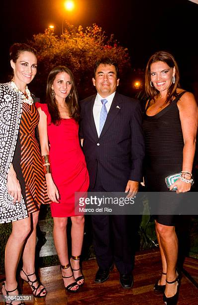 Adriana Abascal Kelly Talamas Luis Torres and Jessica Newton attends the Lima Vogue Nigth event at Miraflores Park Hotel on April 11 2013 in Lima Perú