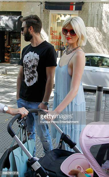 Adriana Abenia and her husband Sergio Abad are seen on July 26 2016 in Madrid Spain
