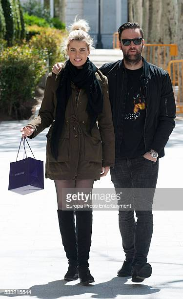 Adriana Abenia and Sergio Abad are seen on April 21 2016 in Madrid Spain