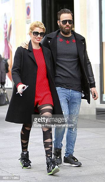 Adriana Abenia and Sergio Abad are seen on February 10 2015 in Madrid Spain