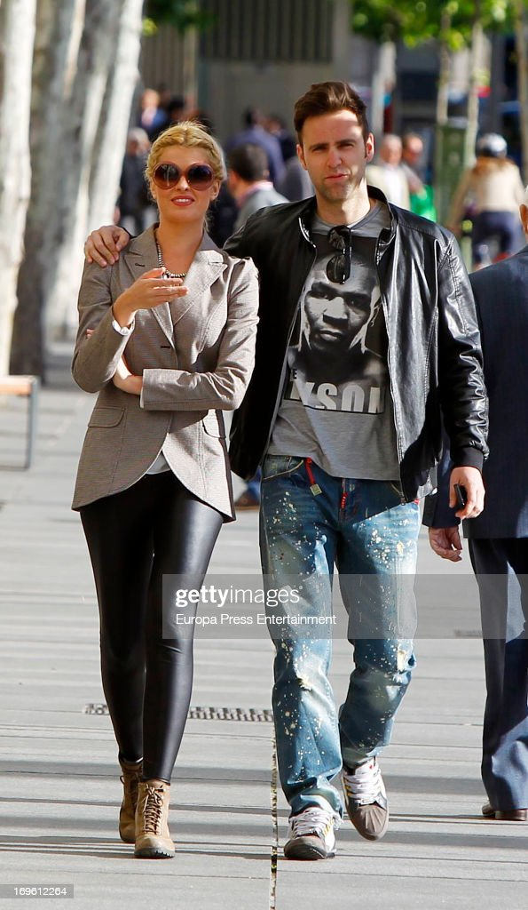Adriana Abenia and Sergio Abad are seen on May 28, 2013 in Madrid, Spain.
