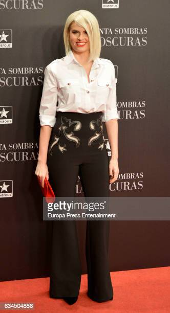 Adriana Abenia attends 'Fifty Shades Darker' premiere at Kinepolis cinema on February 8 2017 in Madrid Spain