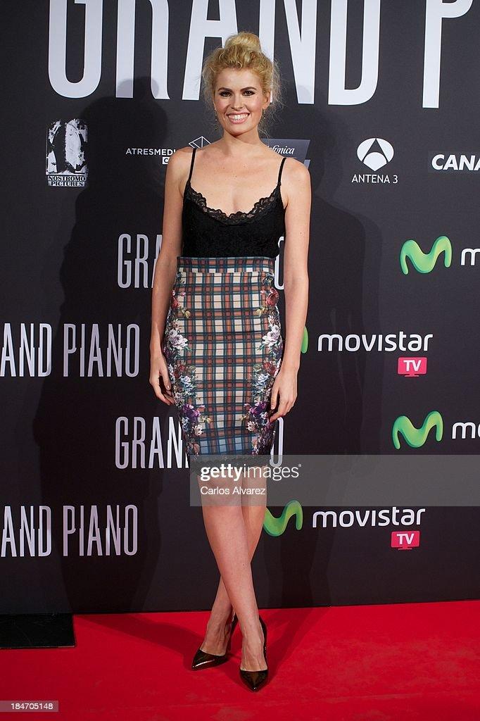 Adriana Abenia attends 'Grand Piano' premiere at the Callao cinema on October 15, 2013 in Madrid, Spain.