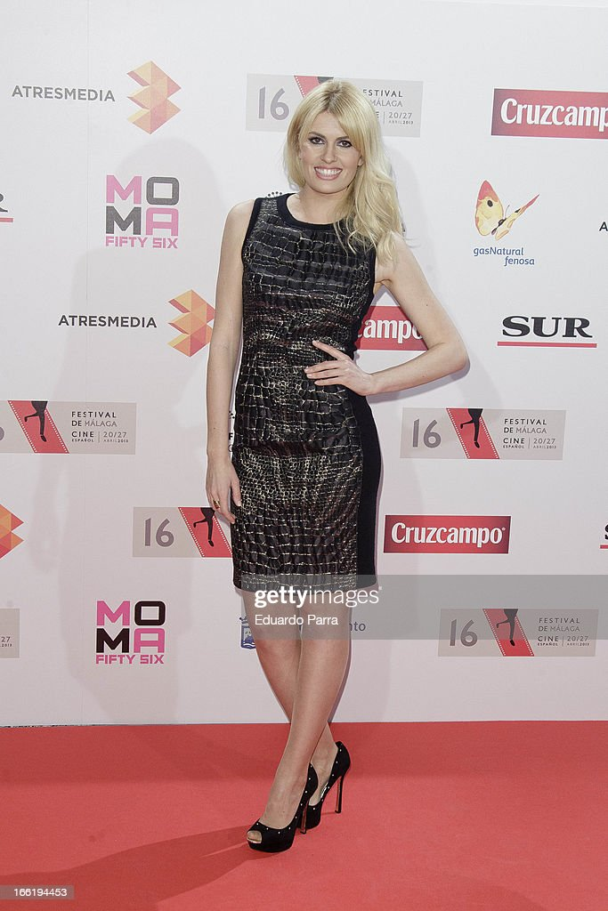 Adriana Abenia attends Malaga Film Festival party photocall at MOMA 56 disco on April 9, 2013 in Madrid, Spain.