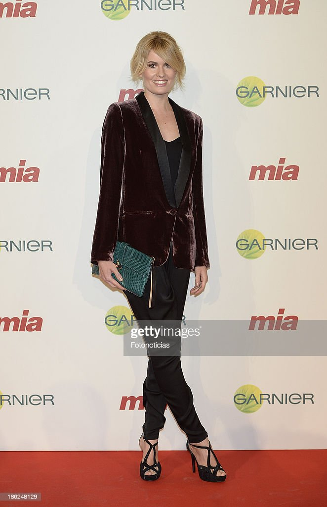 Adriana Abenia attends Mia magazine 'Cuida de Ti' 2013 Awards at Calderon theater on October 29, 2013 in Madrid, Spain.