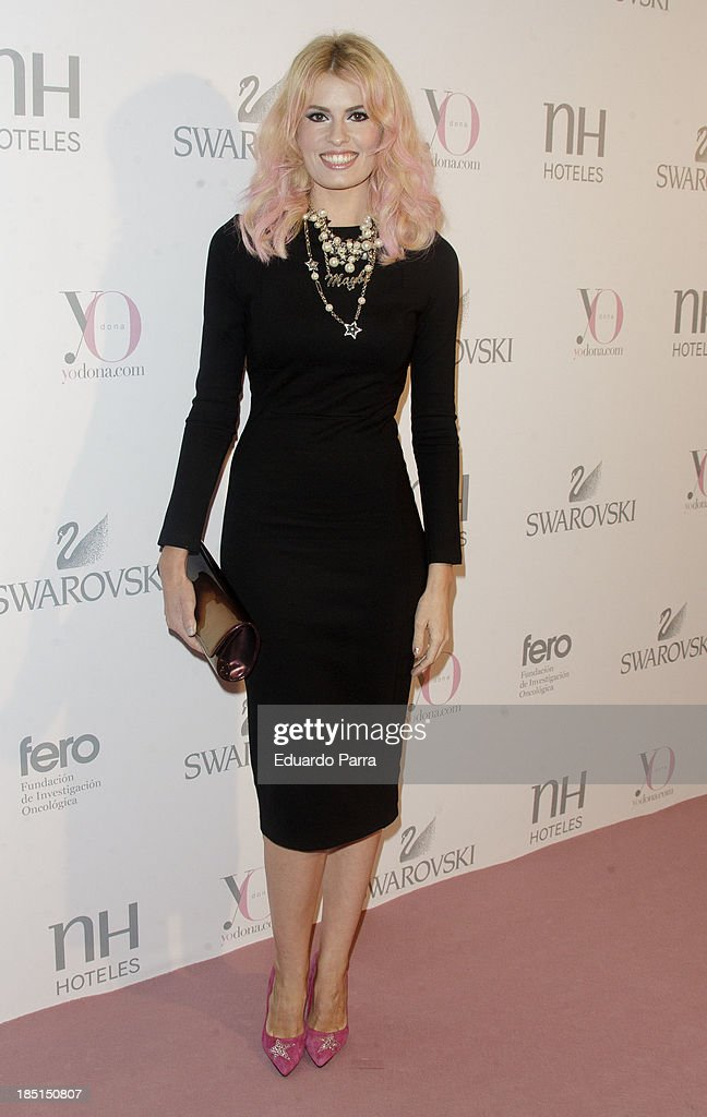 Adriana Abenia attends 'Pink hope' party photocall a Madrid Casino on October 17, 2013 in Madrid, Spain.