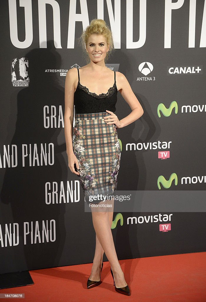 Adriana Abenia attends the premiere of 'Grand Piano' at Capitol cinema on October 15, 2013 in Madrid, Spain.