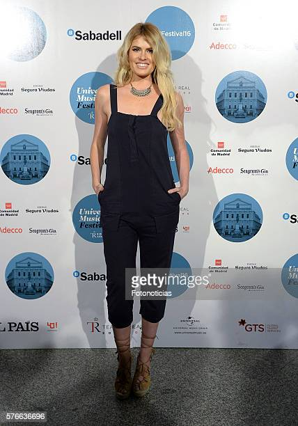 Adriana Abenia attends the Rufus Wainwright Universal Music Festival concert at the Royal Theater on July 16 2016 in Madrid Spain