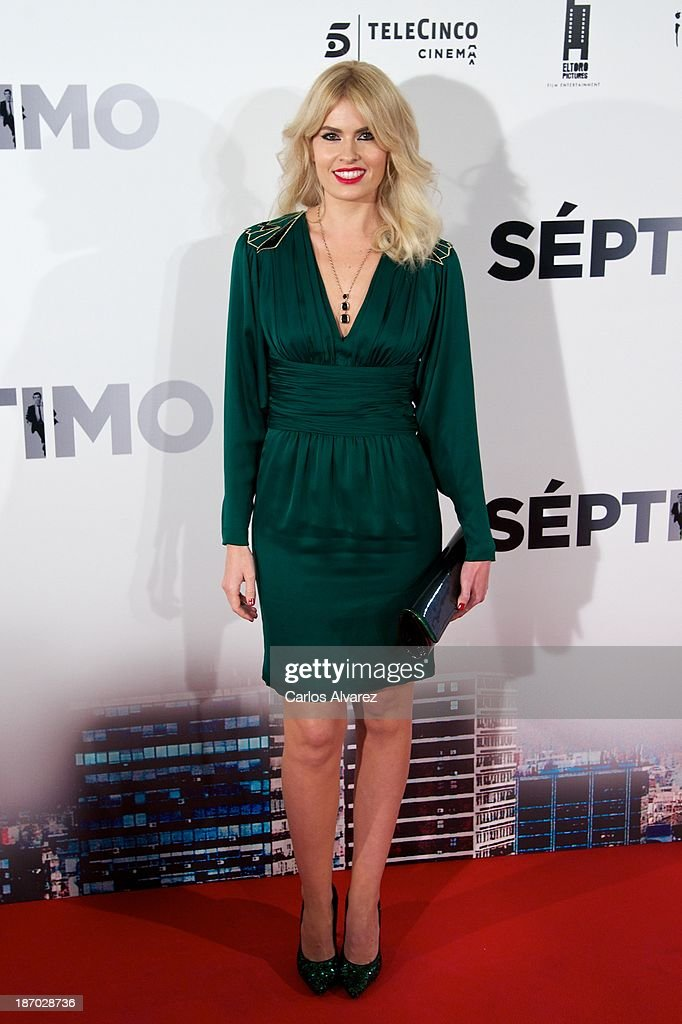 Adriana Abenia attends the 'Septimo' premiere at the Capitol cinema on November 5, 2013 in Madrid, Spain.