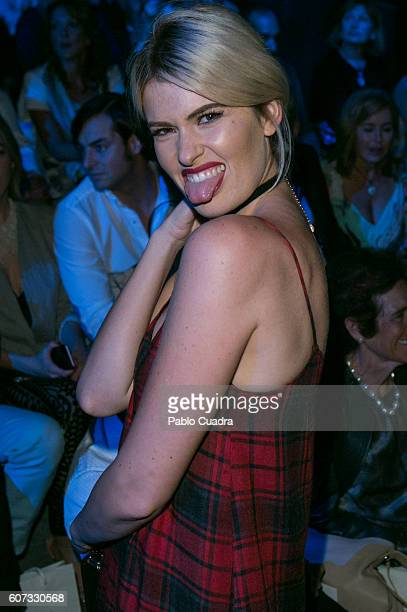 Adriana Abenia is seen attending MercedesBenz Fashion Week Madrid Spring/Summer 2017 at Ifema on September 17 2016 in Madrid Spain