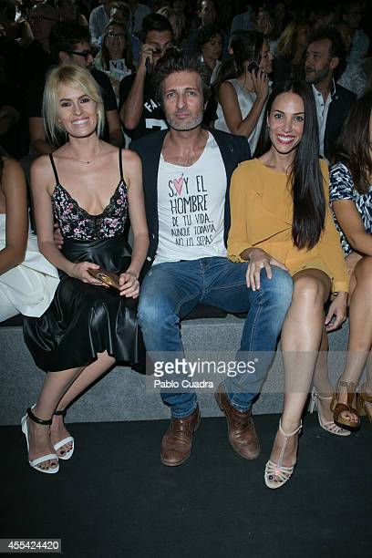Adriana Abenia Jesus Olmedo and Nerea Garmendia attend Mercedes Benz Fashion Week Madrid at Ifema on September 14 2014 in Madrid Spain