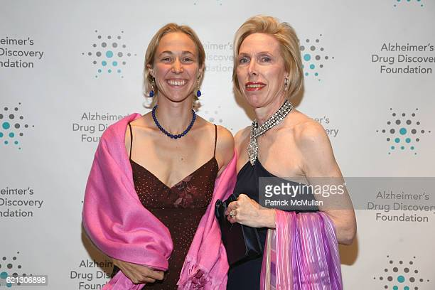 Adriana Boulanger and Carol Boulanger attend Alzheimer's Drug Discovery Foundation Hosts The 2nd Annual Connoisseur's Dinner at Sotheby's on May 1...