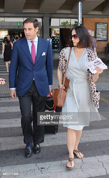 Adriana Carolina Herrera and Miguel Baez El Litri are seen on May 16 2014 in Seville Spain