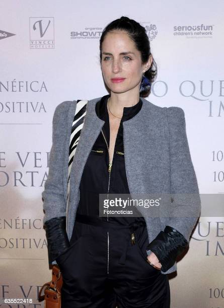 Adriana Carolina Herrera attends the 'Lo Que De Verdad Importa' premiere at the Hotel Vincci Capitol on February 15 2017 in Madrid Spain