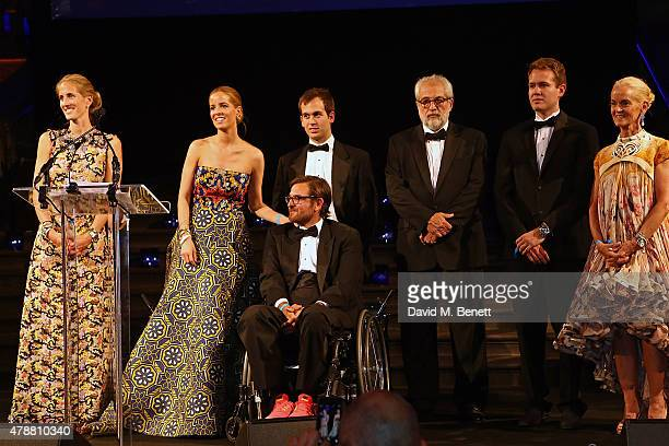 Adriana Chryssicopoulos Carolina GonzalezBunster Luis GonzalezBunster Rolando GonzlezBunster and guests at the inaugural Walkabout Foundation gala...