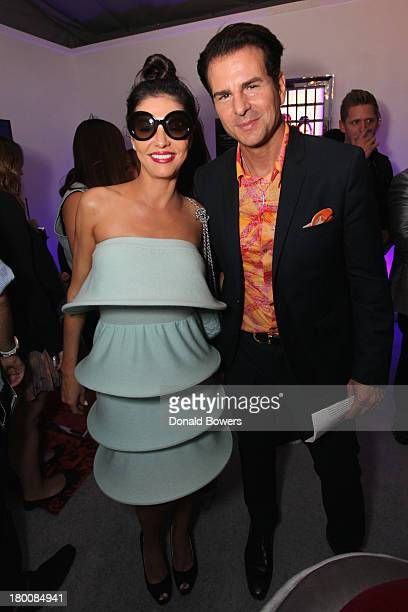 Adriana De Moura and Vincent De Paul attend the Samsung Galaxy Blue Room at MercedesBenz Fashion Week Spring 2014 Collections at Lincoln Center on...