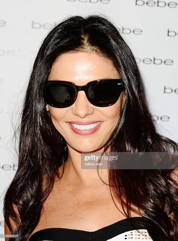 Adriana de Moura attends Nina Agdal's meet and greet at Bebe store on March 13, 2014 in Miami Beach, Florida.
