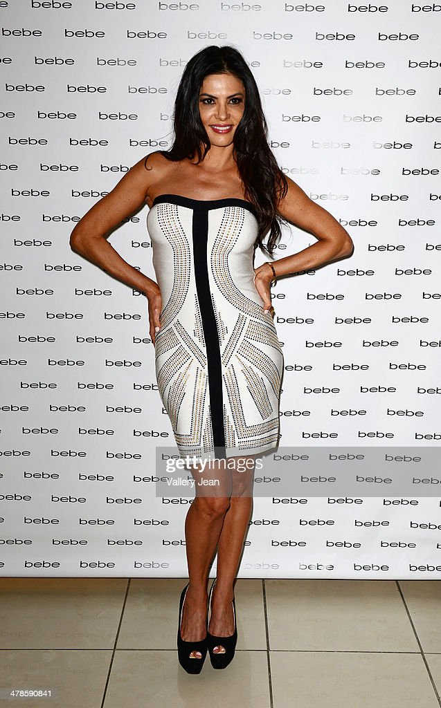Adriana de Moura attends Nina Agdal's meets and greet at Bebe store on March 13, 2014 in Miami Beach, Florida.