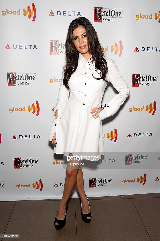 Adriana de Moura attends the GLAAD Manhattan Summer 2013 Benefit at Gansevoort Park Avenue on September 12, 2013 in New York City.