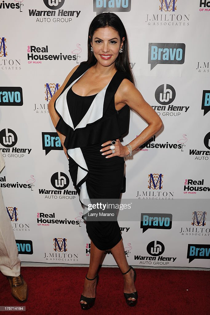 Adriana de Moura attends 'The Real Housewives of Miami' season 3 premiere party on August 6, 2013 in Miami, Florida.