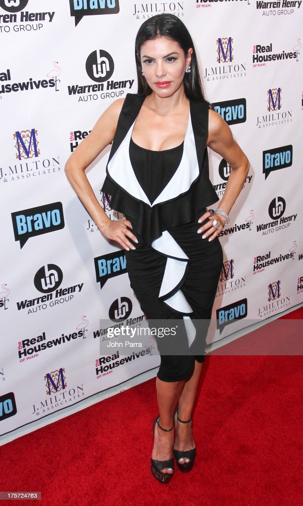 Adriana de Moura attends The Real Housewives of Miami Season 3 Premiere Party on August 6, 2013 in Miami, Florida.