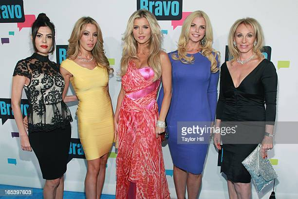 Adriana de Moura Lisa Hochstein Joanna Krupa Alexia Echevarria and Lea Black of 'The Real Housewives of Miami' attend the 2013 Bravo Upfront at...