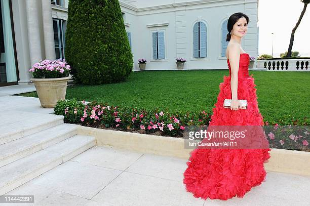 Adriana Ferreyr attends amfAR's Cinema Against AIDS Gala during the 64th Annual Cannes Film Festival at Hotel Du Cap on May 19 2011 in Antibes France