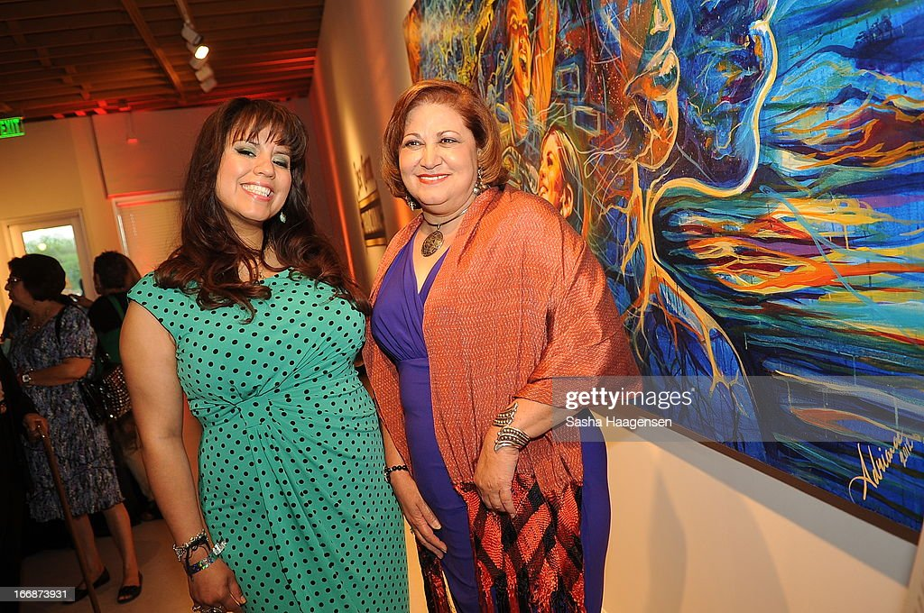 Adriana Garcia and Malena Gonzalez-Cid during the Jose Cuervo Grand Prize Winner Annoucement party at Centro Cultural Aztlan on April 17, 2013 in San Antonio, Texas.