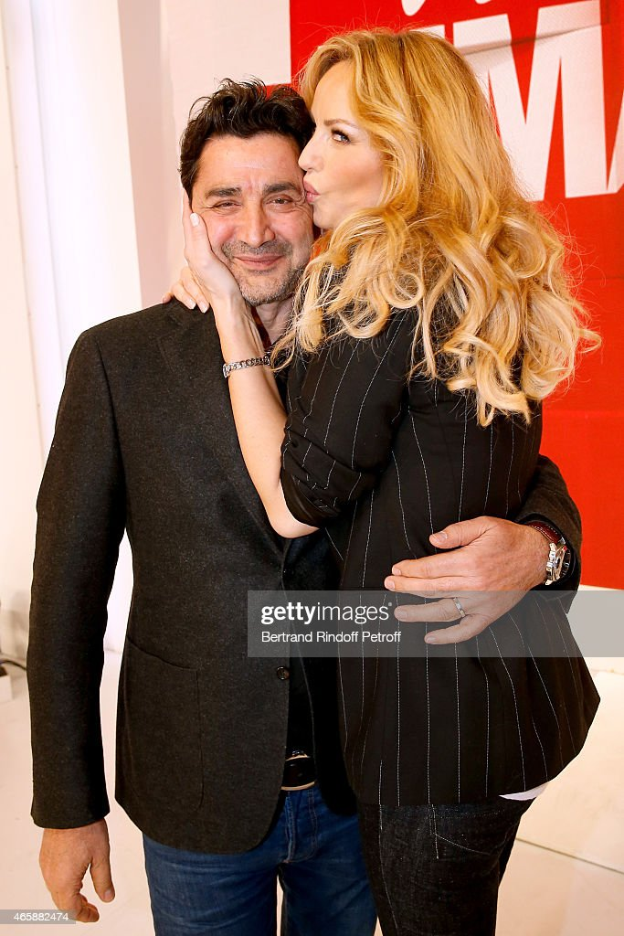 <a gi-track='captionPersonalityLinkClicked' href=/galleries/search?phrase=Adriana+Karembeu&family=editorial&specificpeople=207098 ng-click='$event.stopPropagation()'>Adriana Karembeu</a> and her husband Aram Ohanian attend the 'Vivement Dimanche' French TV at Pavillon Gabriel on March 11, 2015 in Paris, France.