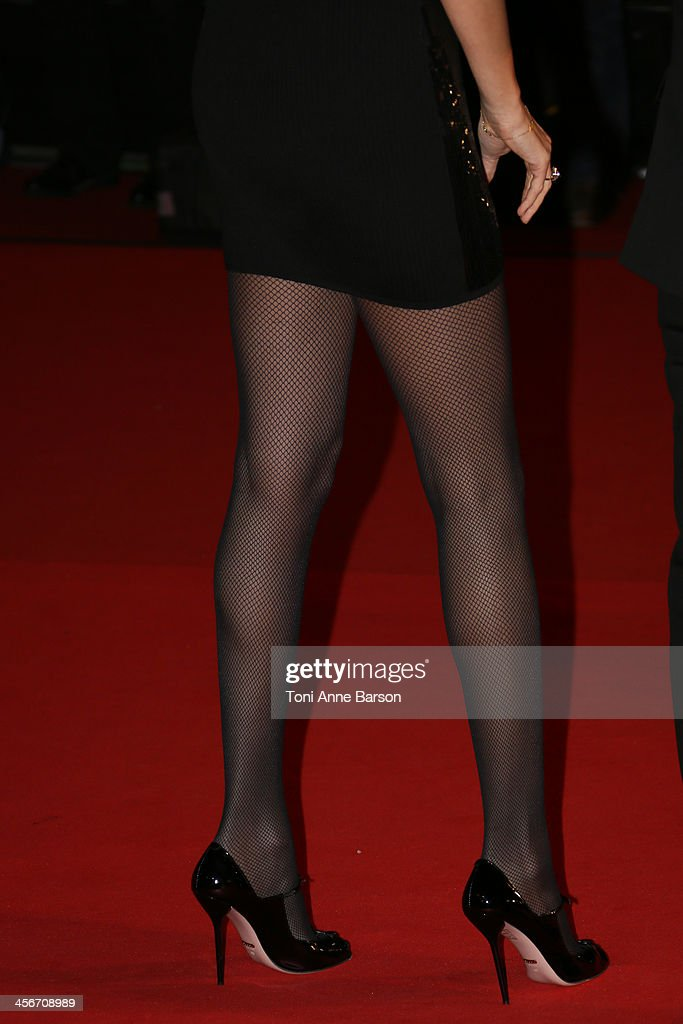 Adriana Karembeu arrives at the 15th NRJ Music Awards at the Palais des Festivals on December 14, 2013 in Cannes, France.