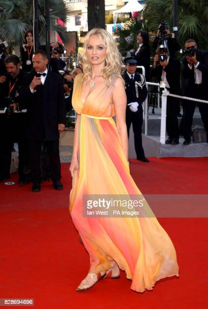 Adriana Karembeu arrives at the premiere for the film Swimming Pool at the Cannes Film Festival Pic Ian West