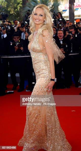 Adriana Karembeu arrives for the premiere of Marie Antoinette at the Palais des Festival during the 59th Cannes film Festival in France