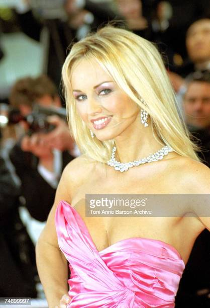 Adriana Karembeu at the Palais des Festivals in Cannes France